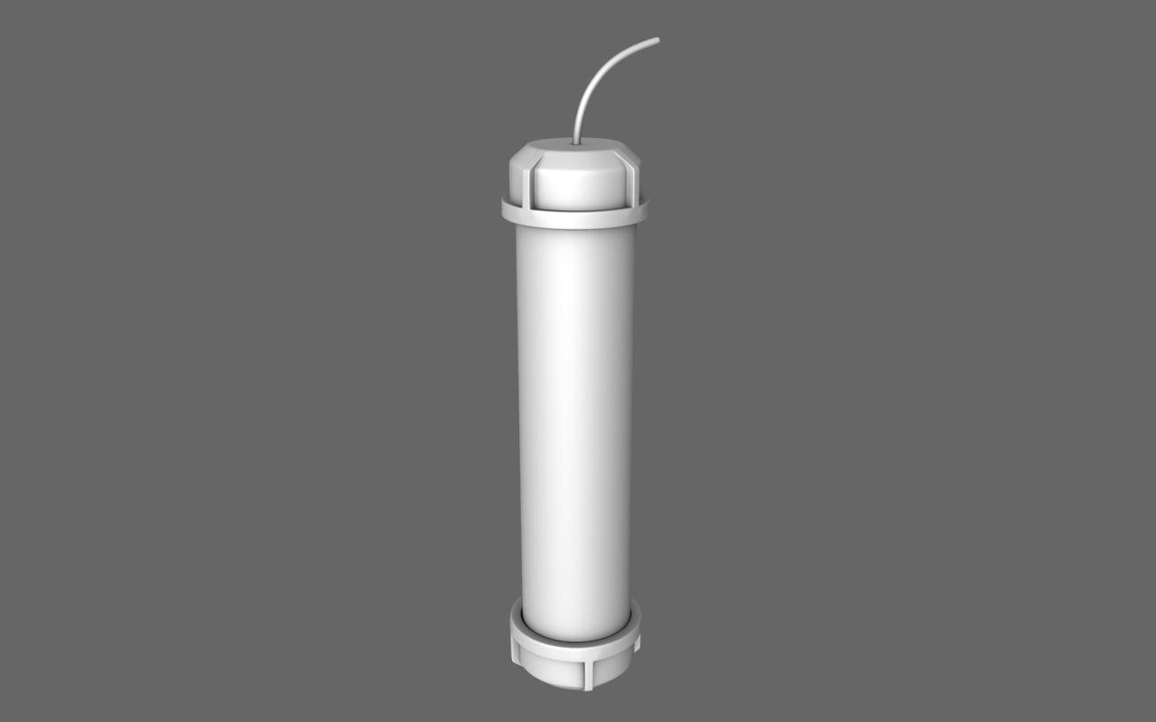 free pipe bomb grenade 3d model