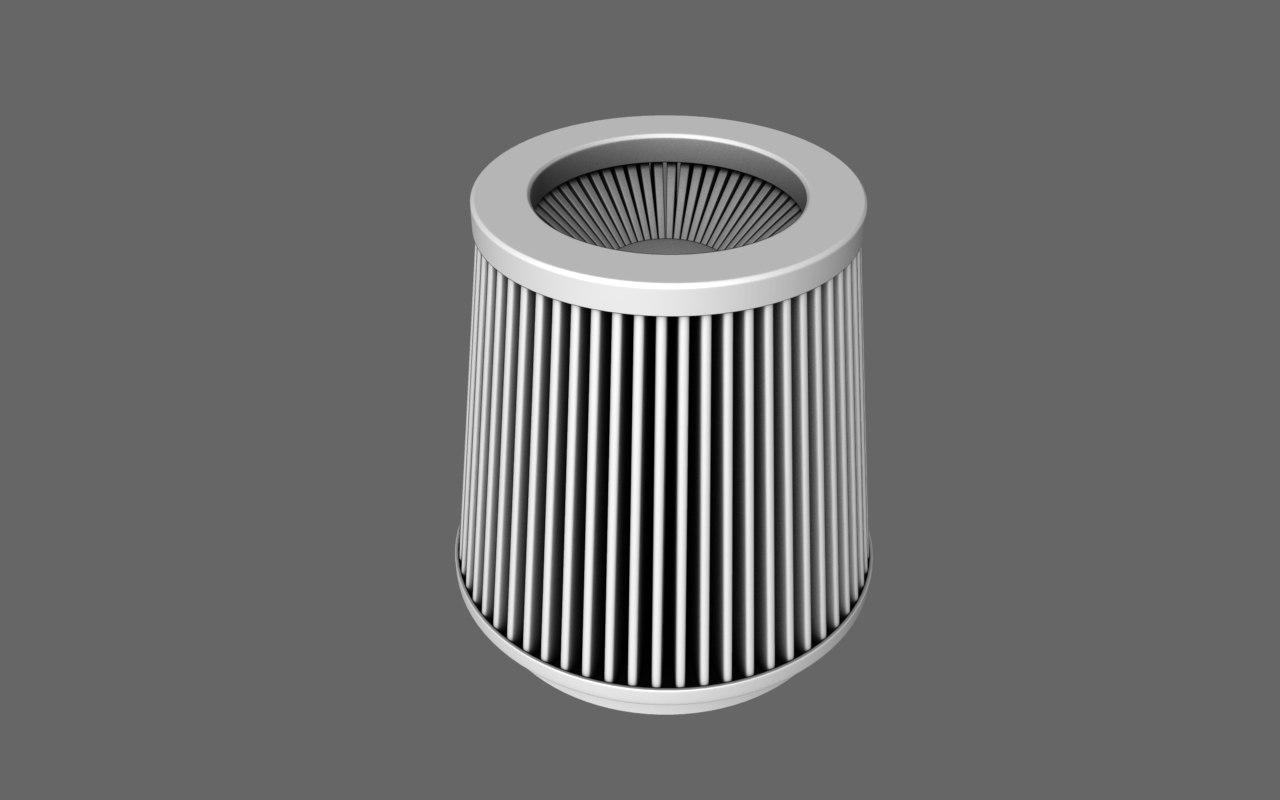free air filter race sport 3d model