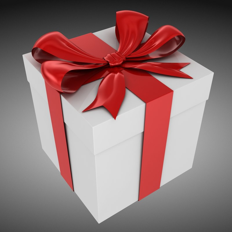 3d model giftbox gift box
