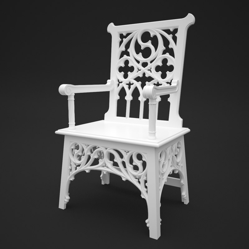 3d gothic chair model