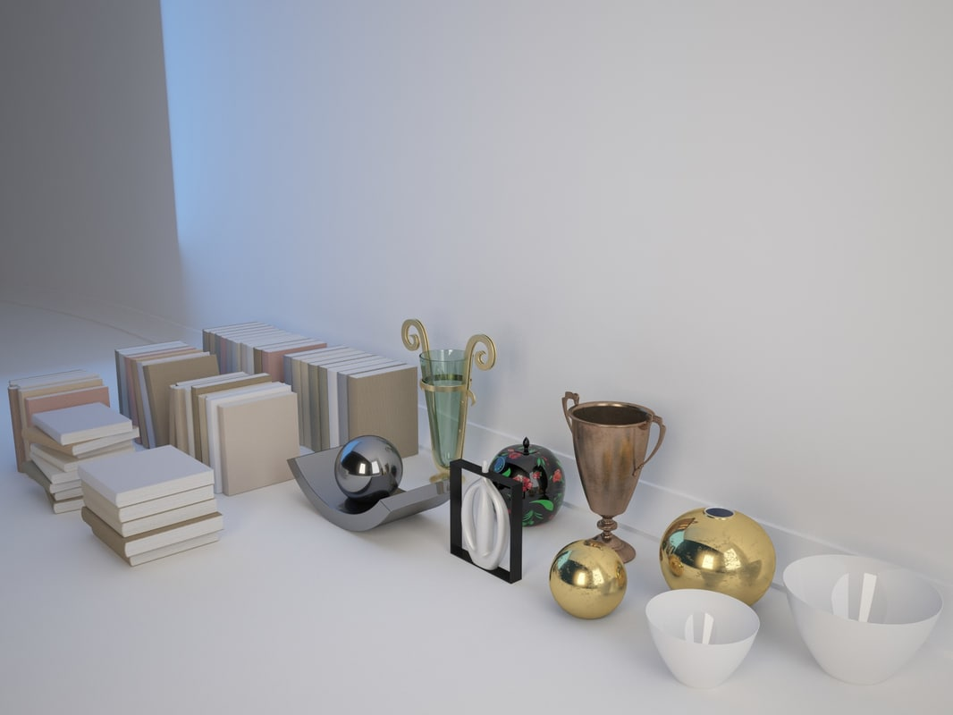 objects decoration 3d max