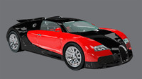 element car exotic supercar 3d model