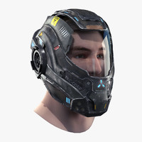 helmet head 3d max