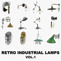 Retro Industrial Lamps collection vol.1 (with Subway Breeze products)