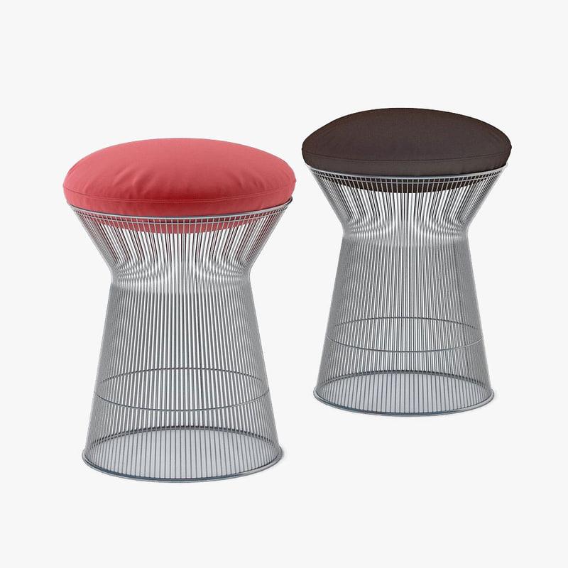 platner stool knoll 3d max