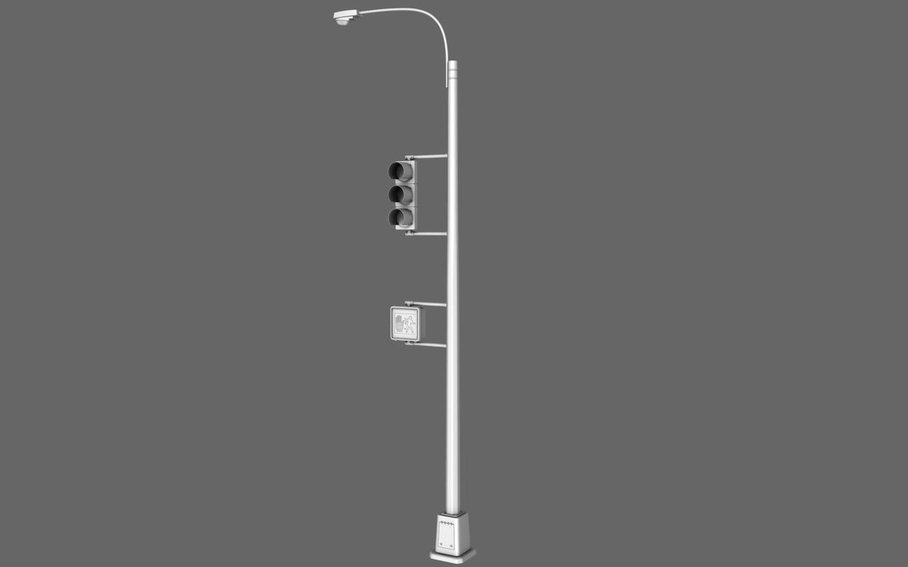 traffic light lamp 3d model