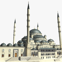 3d model kocatepe mosque