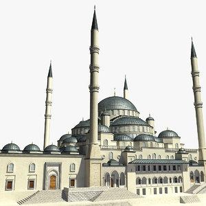 3d model kocatepe mosque