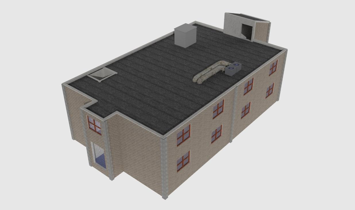 large building 3d model
