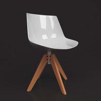 3d flow chair model