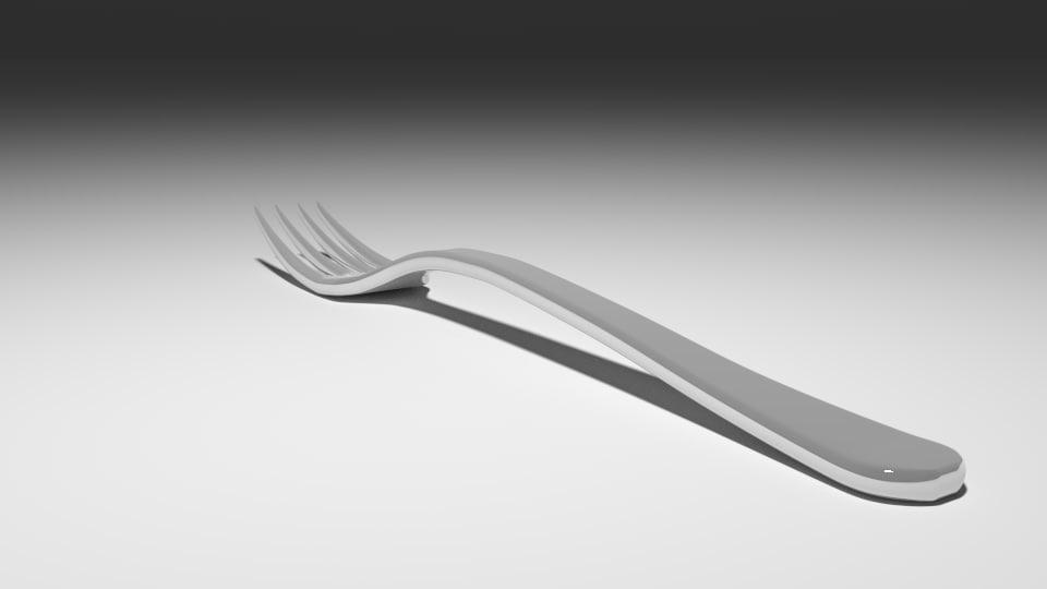 3d model fork blender