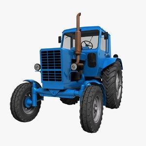 3ds soviet tractor mtz-80 belarus