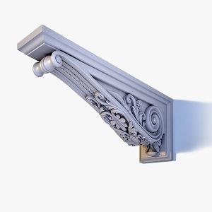 3d model ornate corbel bracket el56