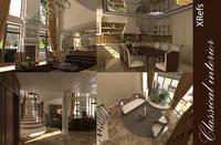 interior classic house 3d max