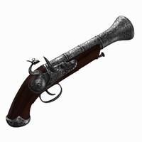 3d flintlock pistol