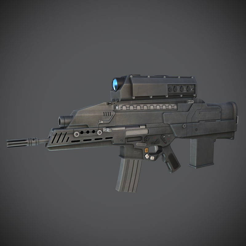 3d xm29 oicw rifle model