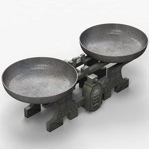 classic scales 3d model