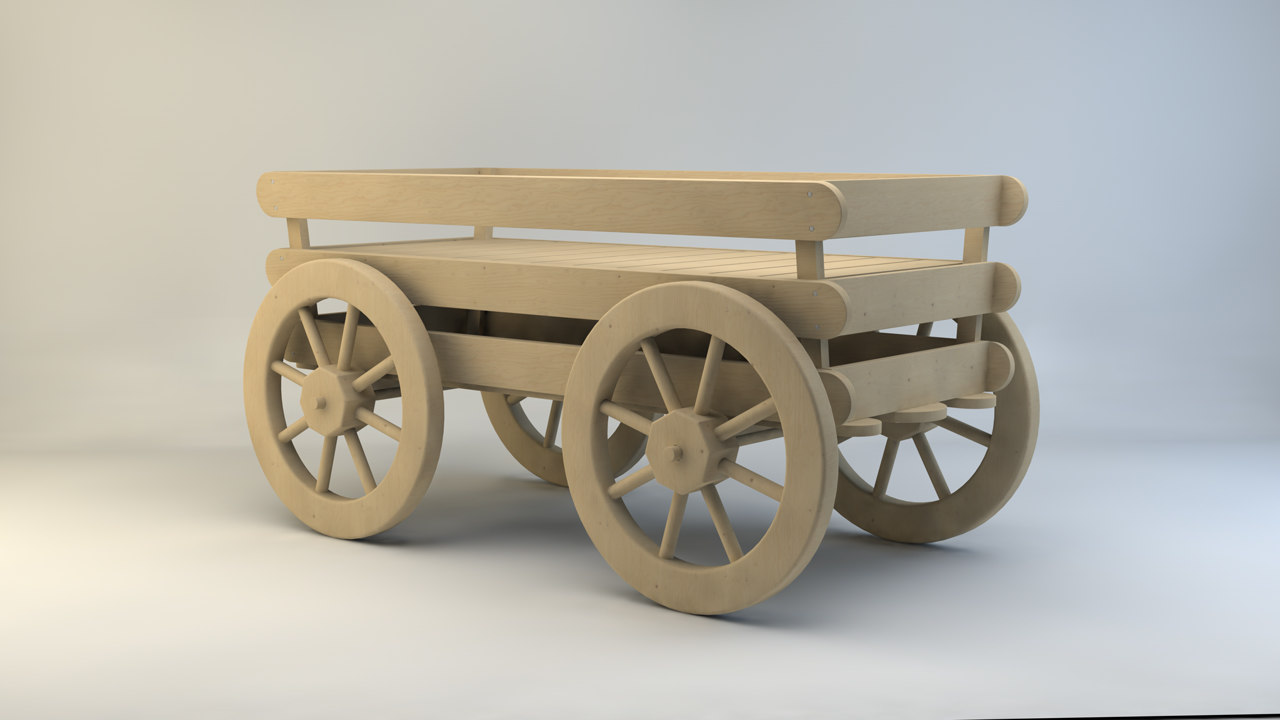 cart truck carriage 3d max