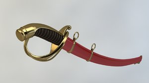 3d saber sword model
