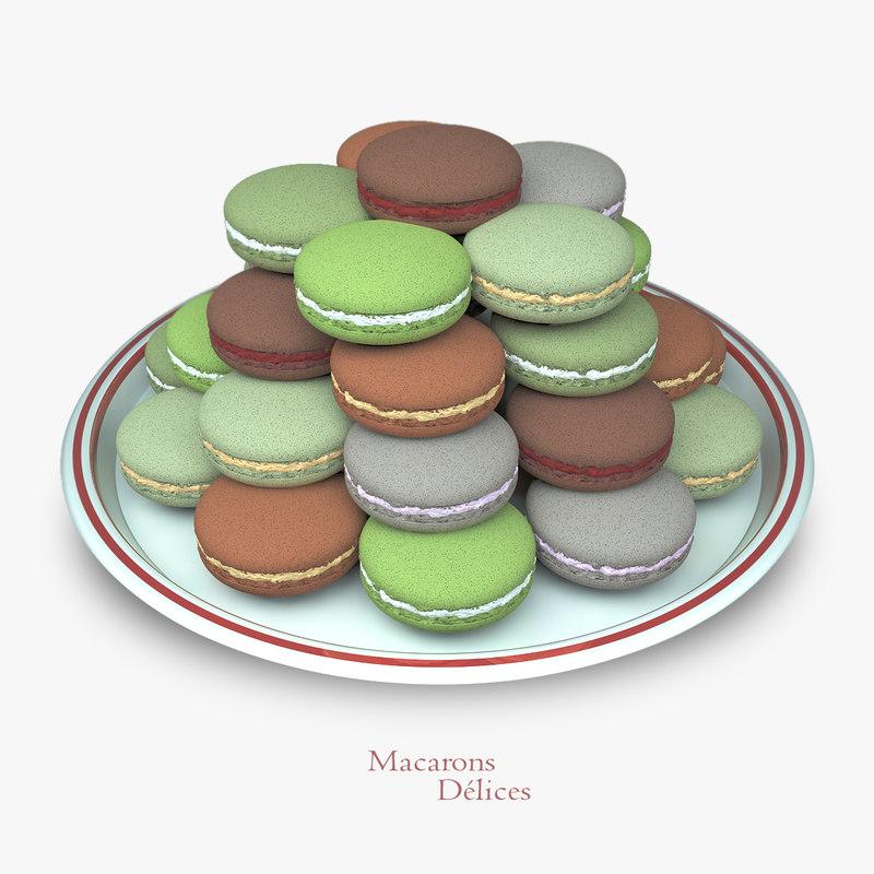 3d macarons cookies