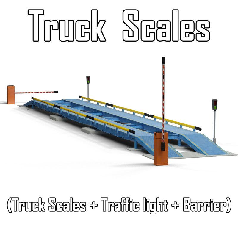 truck scales 3d model