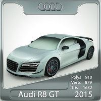 3d audi r8 gt 2015 model