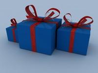 free gift box 3d model