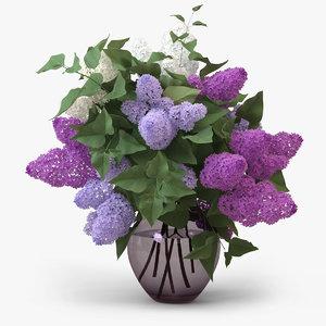 vase lilac 3d model