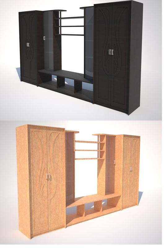 3d model cupboard wood v-ray
