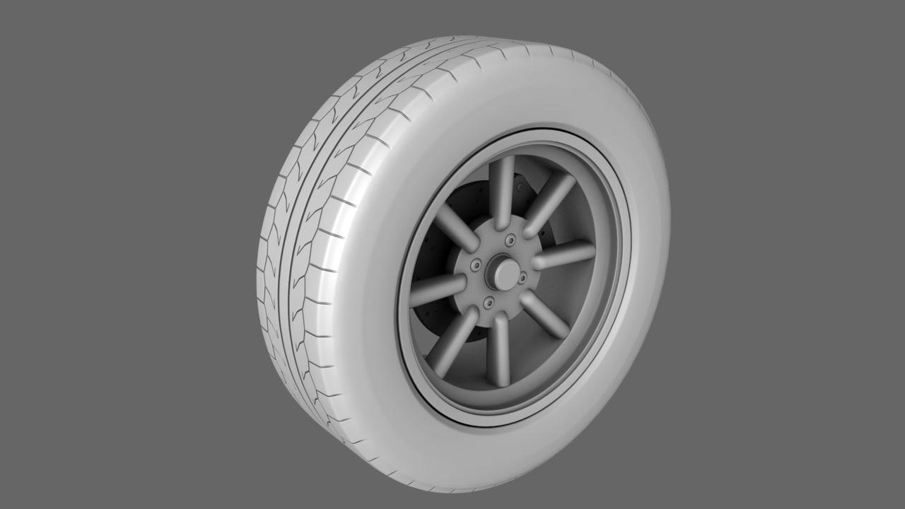 car tires standard 3d obj