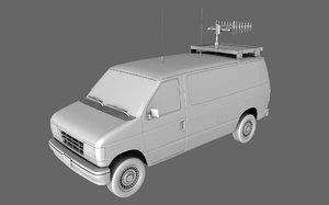 3d van tv radio model