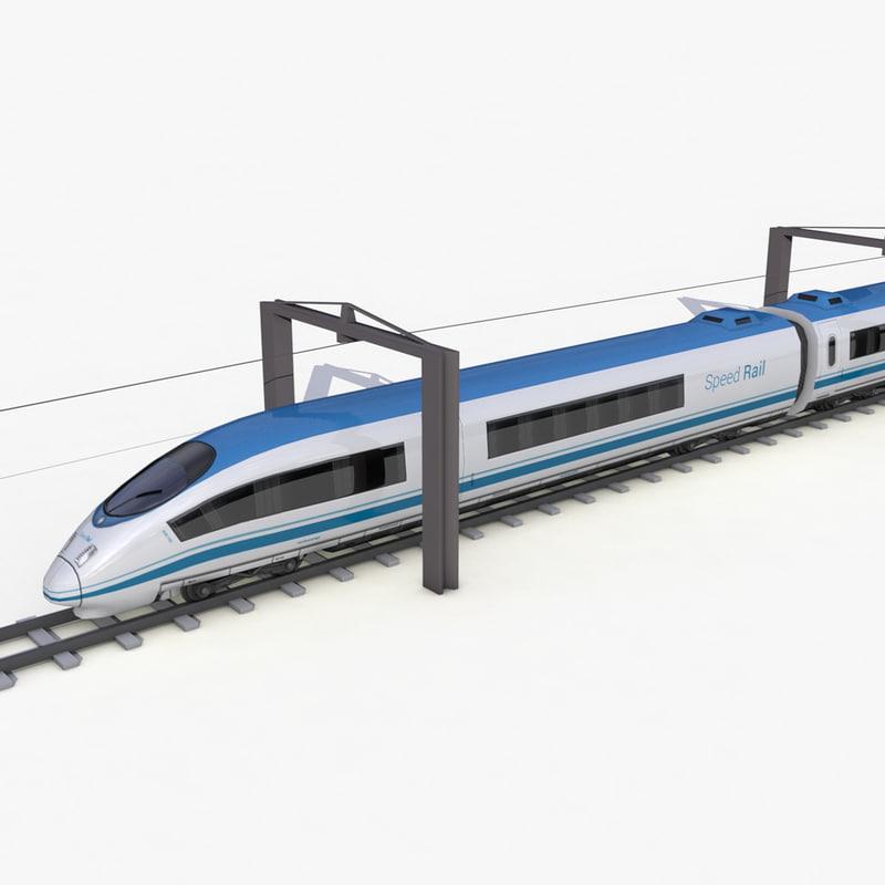 speed train - 3d model