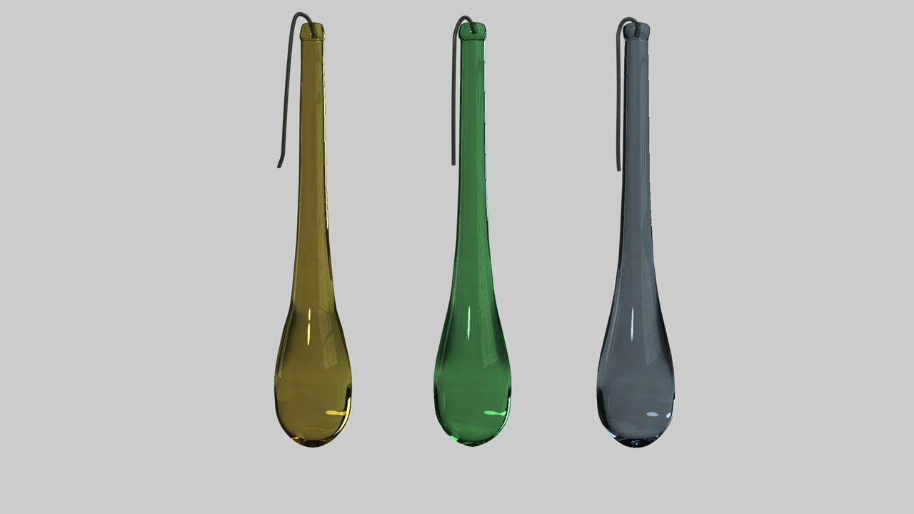 3d glass drops model