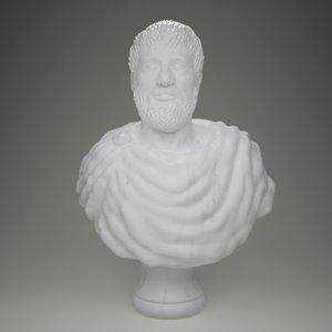 bust aristotle 3d model