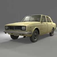 classic hillman hunter 3d model