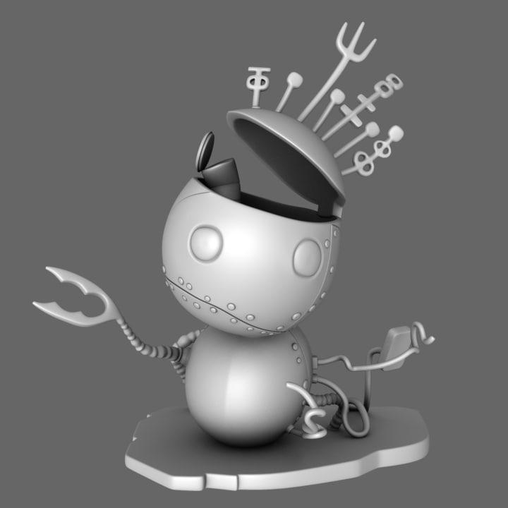 free obj mode tragic toys robot boy