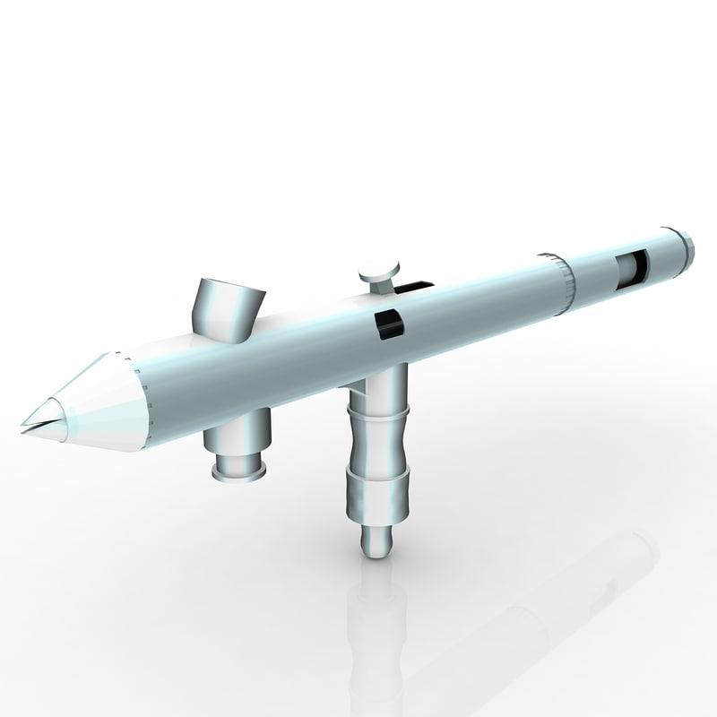 3d airbrush brush model