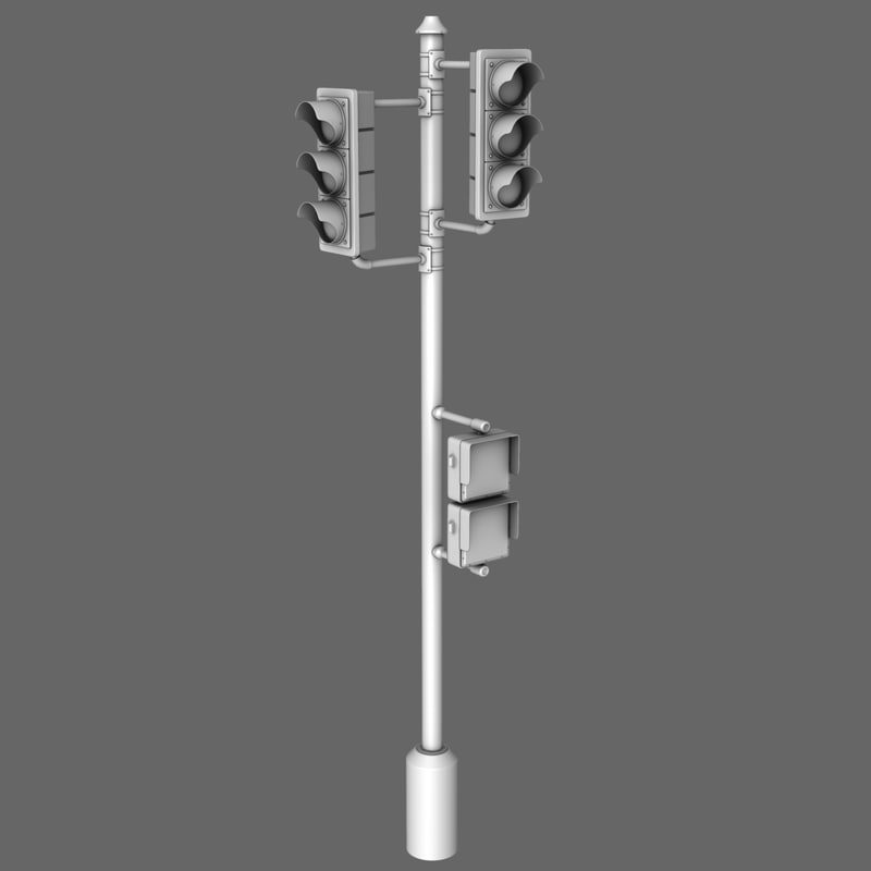 obj traffic lamp