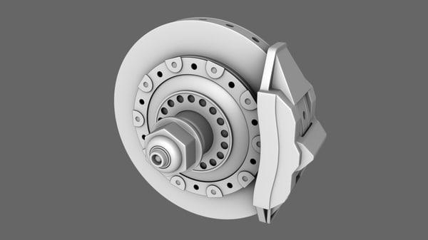 f1 2000 brake disc obj free