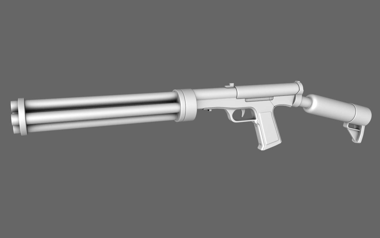 3d shotgun polygonal model