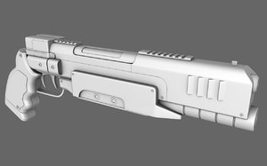 3d model 223 pistol gun