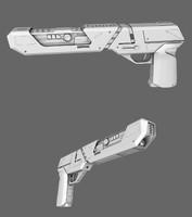 3d model of sci-fi blaster pistol
