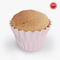 3d tasty cupcake