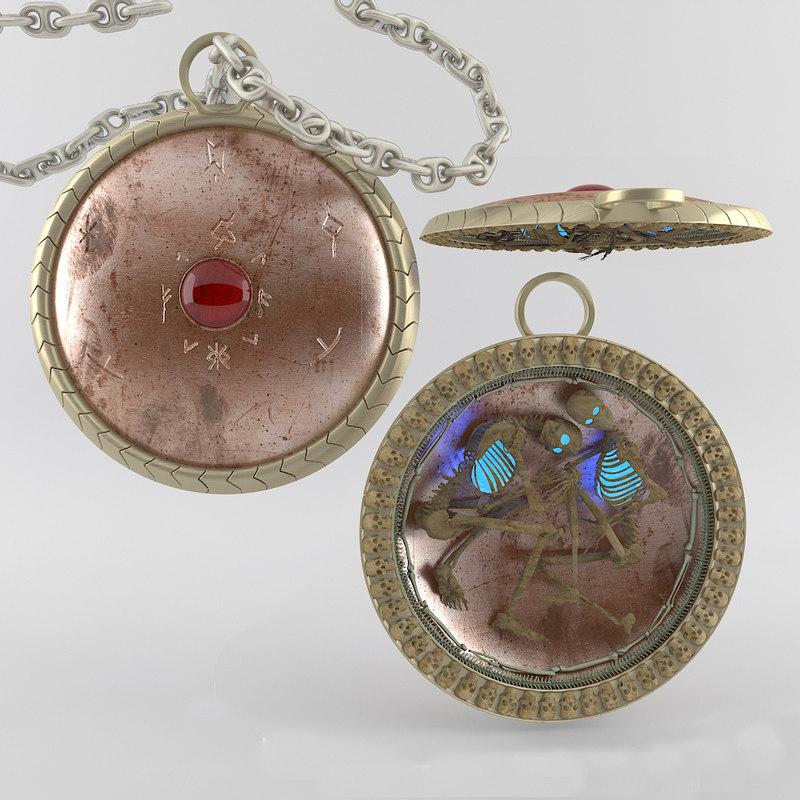 3d amulet model
