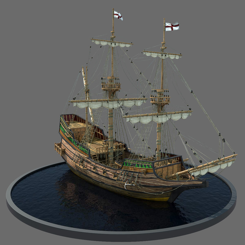 3ds max galleon realistic prop