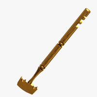 3d model old glass cutter brass