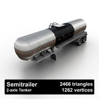 petrol tank semitrailer 3d model