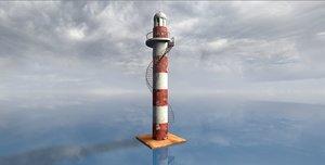 lighthouse punta cankun 3d c4d