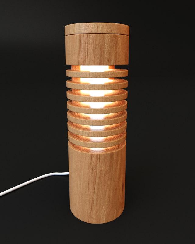 3d 3ds wooden lamp