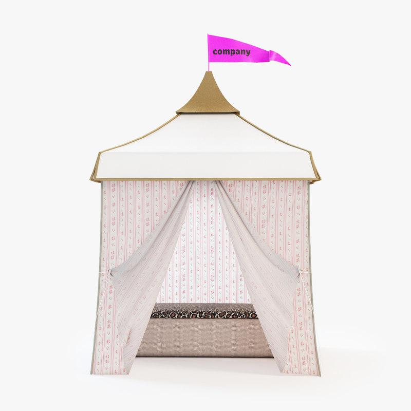 3d model cabana tent